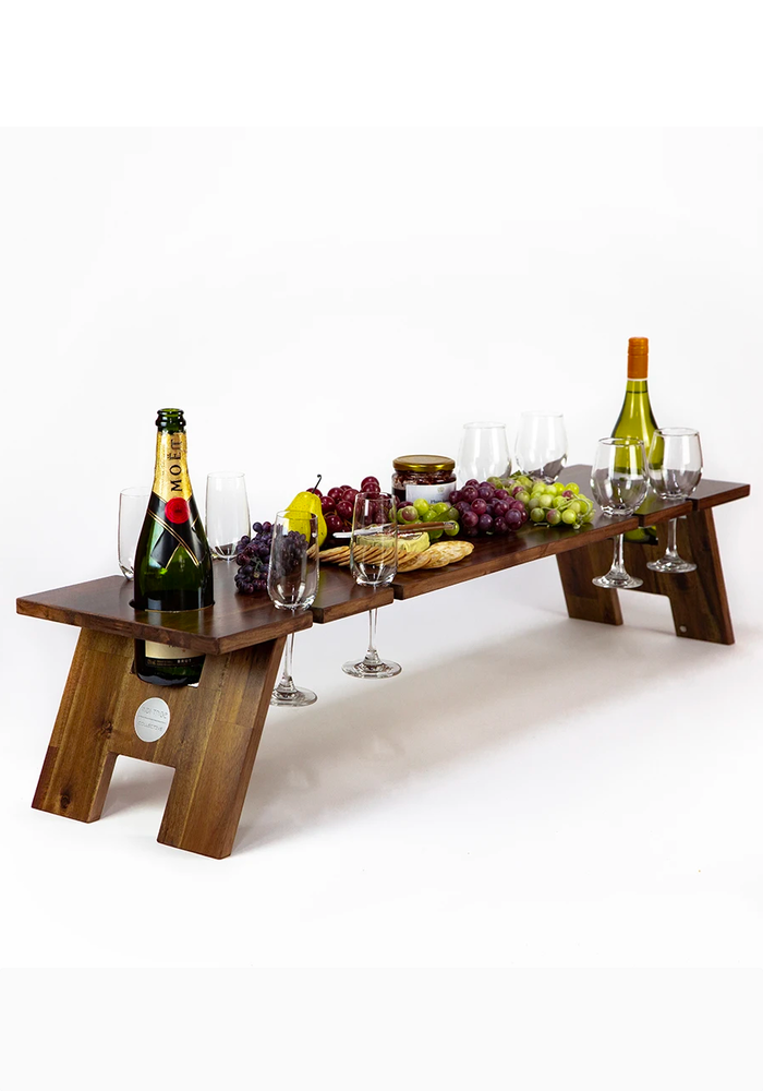 INDI TRIBE COLLECTIVE Picnic Super Folding Wine Table Hardwood