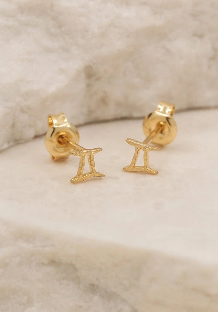 Gemini Stud Earrings - Gold & Silver