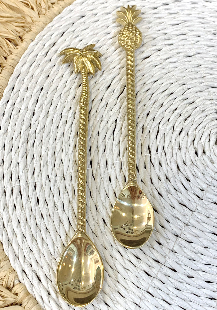 CABO GYPSY BRASS Spoon Stirrer - Palm Tree & Pineapple