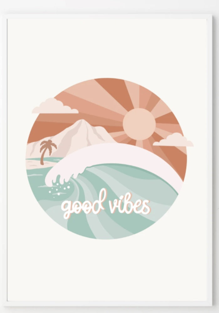 Good Vibes Print A4 - 2 Colors