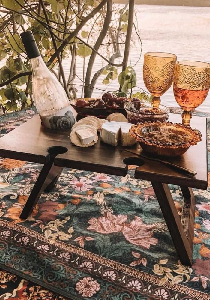 INDI TRIBE COLLECTIVE Picnic Folding Wine Table