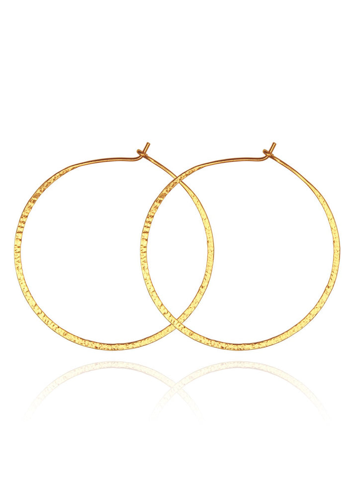 Temple of the sun simple hoop earrings