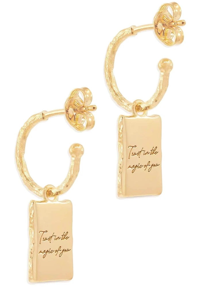 BY CHARLOTTE Magic Of You Hoop Earrings - Gold