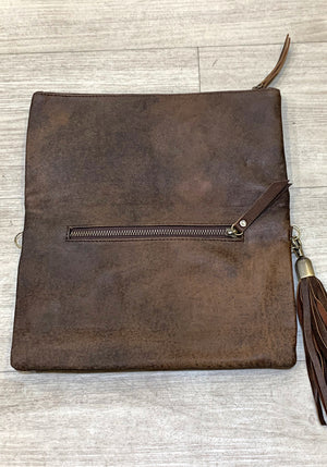 Malia Woven Leather Clutch Bag