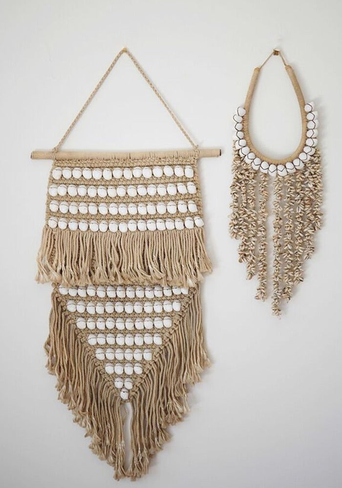 cabo sands wall hanging tan with shell