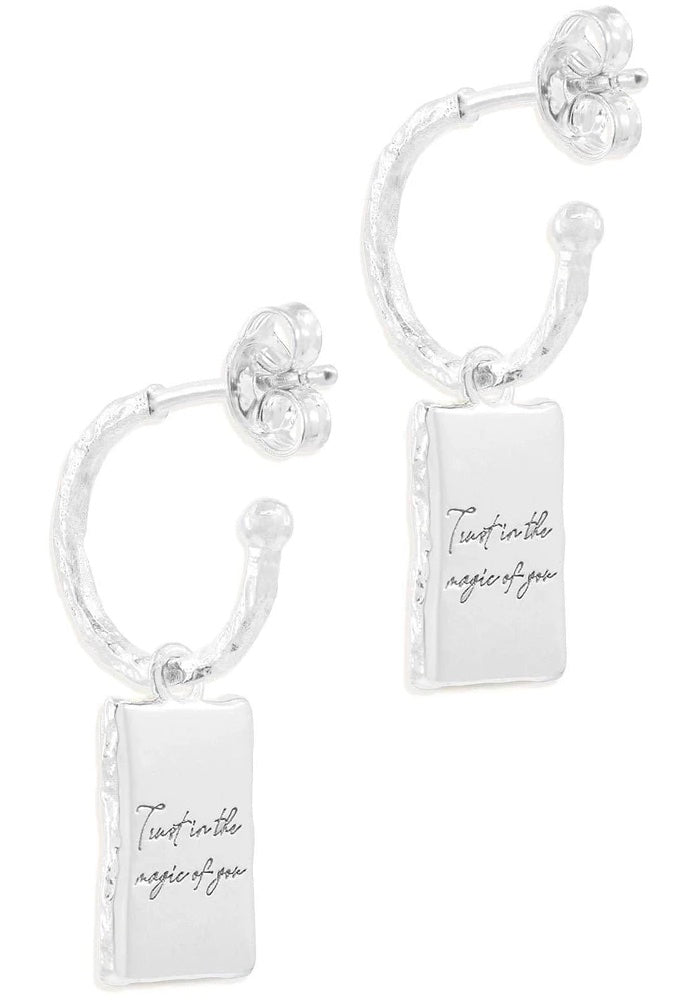 Silver Magic of You Hoops