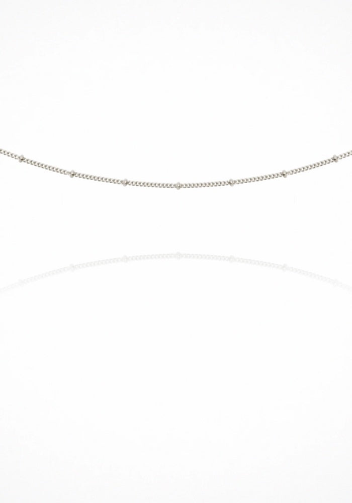 Fine Choker Chain Necklace - Silver
