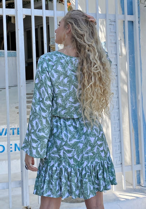 Wandering Leaf Mini Dress