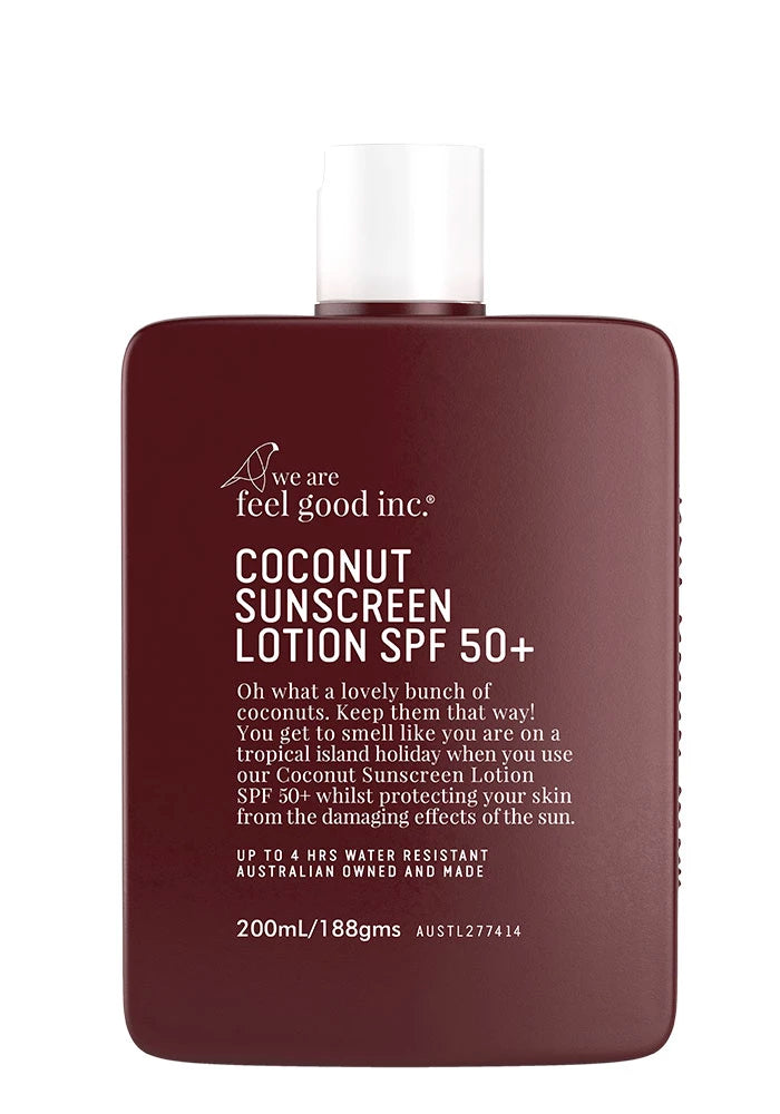 WE ARE FEEL GOOD INC. Coconut Sunscreen Lotion SPF 50+