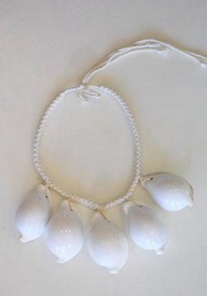 White Cowrie Shell Necklace
