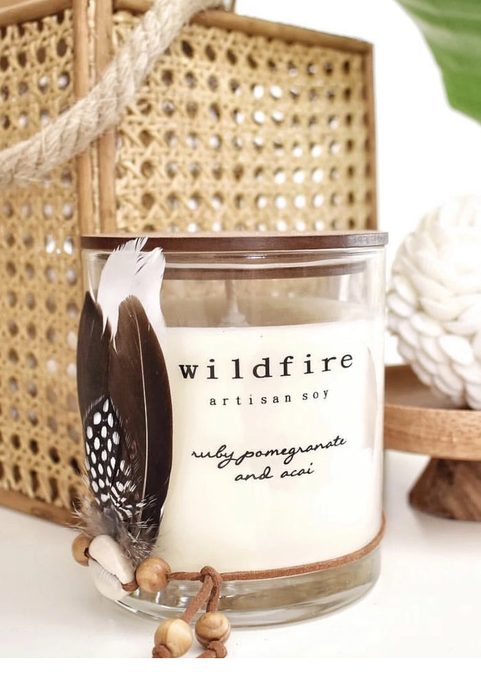 SHOP WILDFIRE SOY CANDLES leather and sandalwood