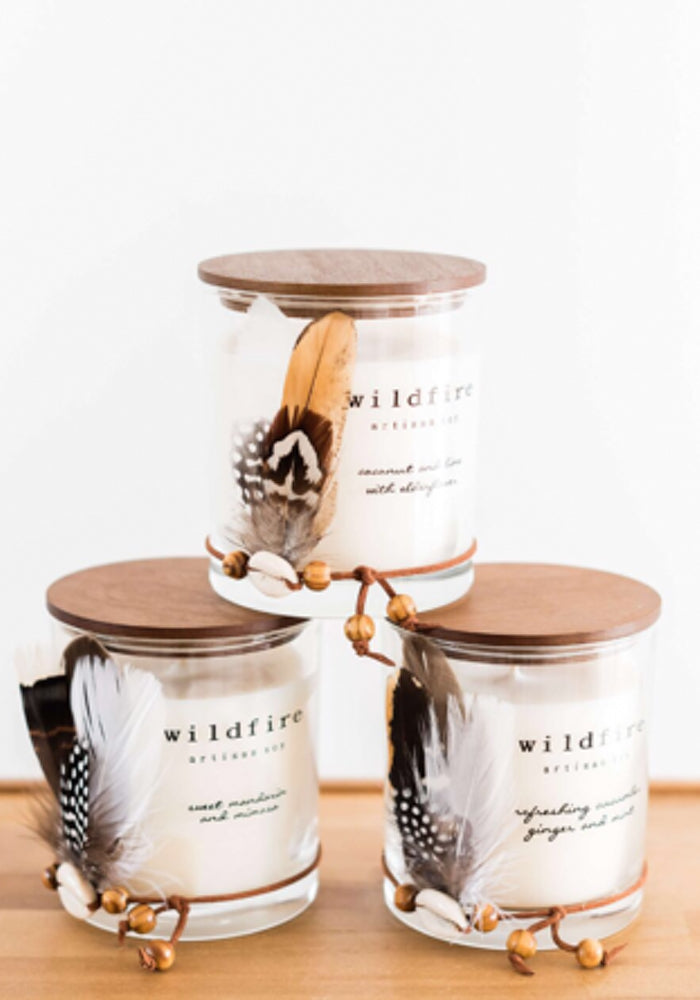 wildfire soy candle Midnight Ebony & Peach