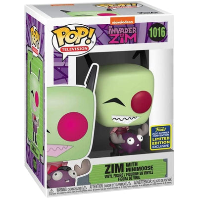 Invader Zim with Minimoose SDCC 2020 Pop! Limited Edition Funko Entertainment Earth Exclusive