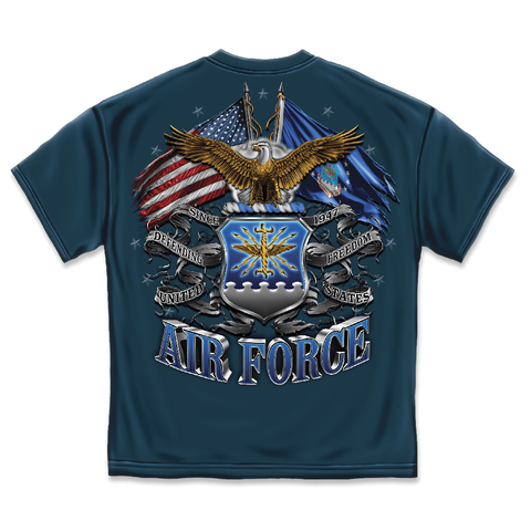 Air Force Eagle Double Flag Shield T-Shirt