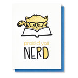 Funny Graduation Letterpress Card | New Job | Cat Nerd | Law School | MBA | Bar Exam - Kiss and Punch