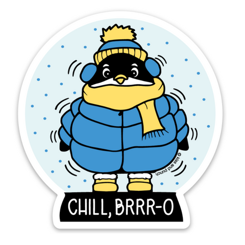 3 Inch Chill Bro Freezing Penguin Matte Vinyl Sticker