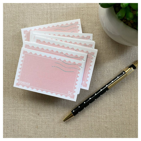 NEW! Mini Notecard Set of 60 - Forever Stamp Flat Cards - Love Notes - Mini Cards - Enclosure cards