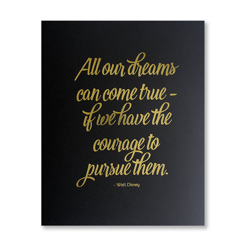 Walt Quote 8 x 10 inch inspirational print - Kiss and Punch
