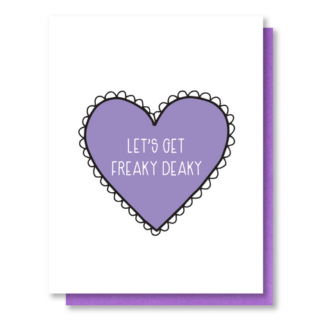 NEW! Freaky Deaky Love Letterpress Card | Sexy Valentine's Day | Anniversary | kiss and punch