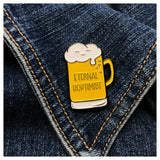 NEW! Eternal Hoptimist Beer Pun Soft Enamel Pin | kiss and punch - Kiss and Punch