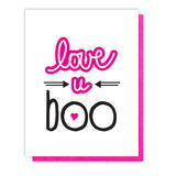 Love U Boo Letterpress Card | Valentine | Galentine | kiss and punch - Kiss and Punch