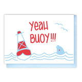 Funny Congratulations Graduation Promotion | Yeah Buoy | Pun Letterpress Card | kiss and punch - Kiss and Punch