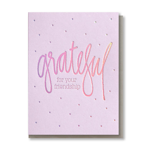 Holographic Rainbow Foil Thank You Card