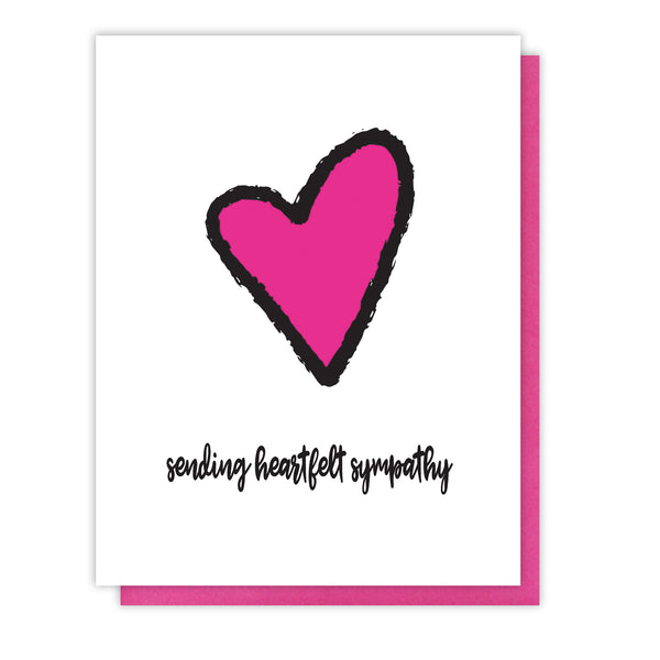 NEW! Heartfelt Sympathy | Loss Letterpress Card | kiss and punch - Kiss and Punch