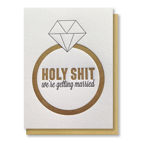 Funny Ring Day of Wedding Letterpress Card