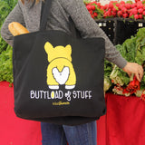 LIMITED EDITION - Funny Buttload of Stuff Corgi Screenprinted Tote Bag | kiss and punch - Kiss and Punch