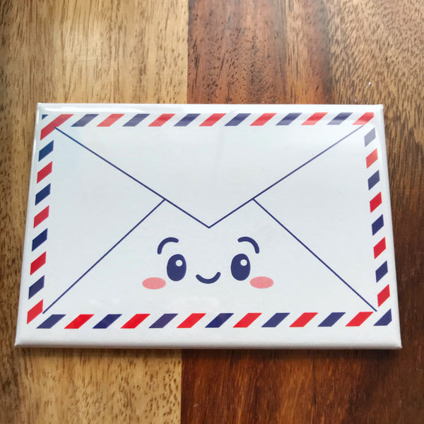 "NEW! Cute Airmail Envelope 2"" x 3"" Fridge Magnet"