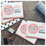 Funny Dim Sum | Foodie Birthday Letterpress Card | kiss and punch - Kiss and Punch