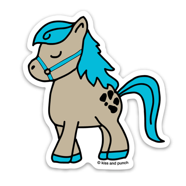 3 Inch Little Pony Matte Vinyl Sticker - Kiss and Punch