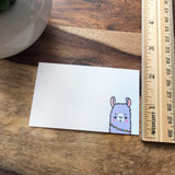 NEW! Mini Notecard Set of 60 - Llama Flat Cards - Lunch Notes - Mini Cards - Enclosure cards - Kiss and Punch