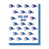 Many Shanks Foodie Ham | Funny Thank You Pun Letterpress Card | kiss and punch - Kiss and Punch