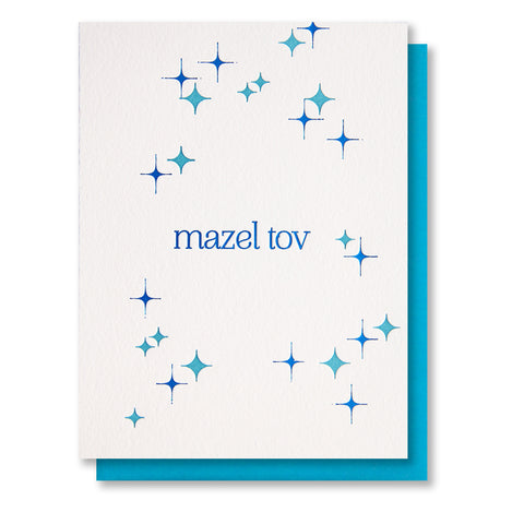 Mazel Tov Foil and Letterpress Card - Kiss and Punch