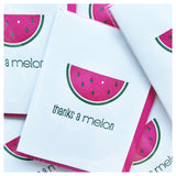Watermelon Punny Thanks a Melon Letterpress Card | kiss and punch - Kiss and Punch