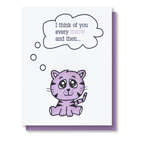 Punny Meow and Then Just Because Letterpress Card | kiss and punch