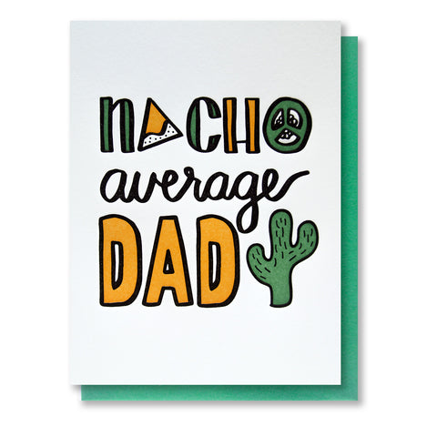 Funny Nachos Dad Letterpress Card