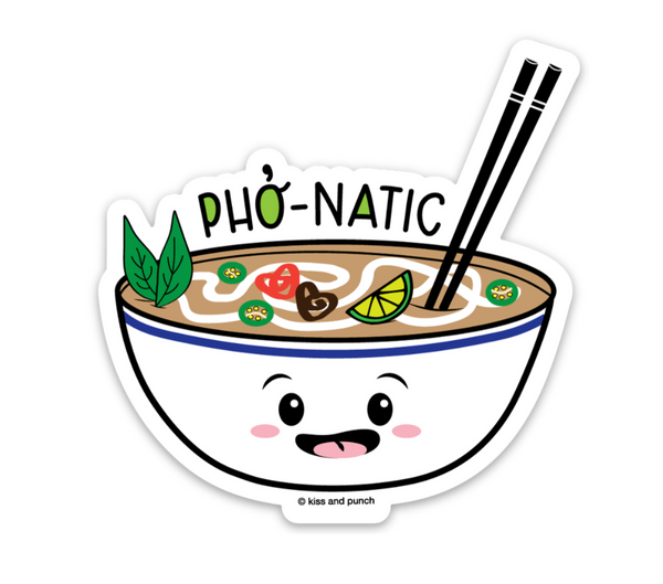 3 Inch Bowl of Pho Vinyl Diecut Sticker