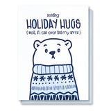 NEW! Funny Holiday Letterpress Card | Sending Holiday Hugs | Polar Bear Ugly Sweater | kiss and punch - Kiss and Punch