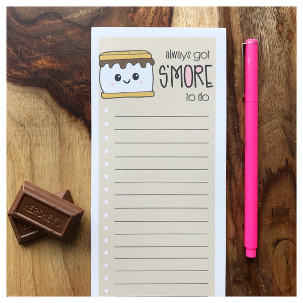 Funny Notepad | S'More To Do | Camping Packing List | 50 Sheets | kiss and punch - Kiss and Punch