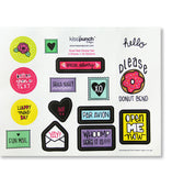 SALE! Snail Mail Sticker Set | Pen Pal Flair | 3 Sheets | 45 Total Stickers | kiss and punch - Kiss and Punch