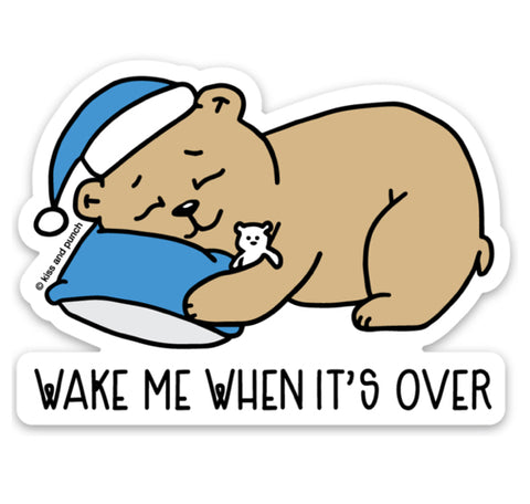 NEW! 3 Inch Wake Me Bear Vinyl Sticker - Laptop Sticker - Bottle Sticker - Cute 2020 Sticker