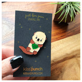 Do Unto Otters Pun Soft Enamel Pin | kiss and punch - Kiss and Punch