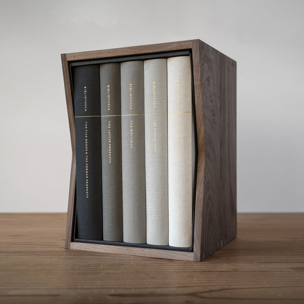Solid Walnut Slipcase (books not included, see note)