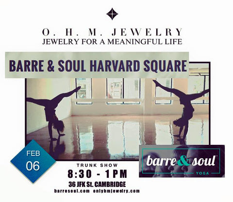 OHM Jewelry Trunk Show at Barre & Soul in Harvard Square Boston, MA