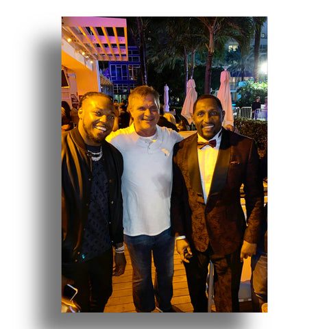 Ray Lewis Baltimore Ravens NFL Derrick Henry Tennessee Titans Brian Baldinger NFL Network Heather Matjasic Sports Illustrated Party Super Bowl LIV Miami Florida 2020