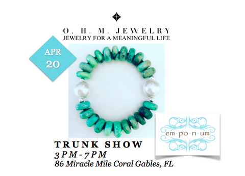 ohm jewelry shop o.h.m. jewelry trunk show shop emporium miami april 20 heather matjasic coral gables