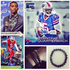 buffalo bills qb tyrod taylor wearing custom men's bracelet